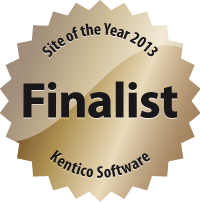 Kentico site of the year 2013 finalist