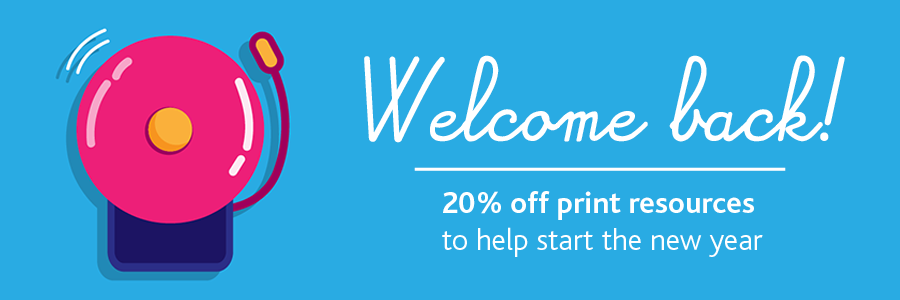 Back to school sale - save 20%25 on all print resources