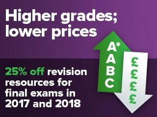 25% off revision resources for final exams in 2017 and 2018