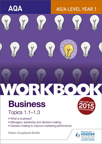 Hodder education learn more aqa a level business workbook 1 topics 11 13 urtaz Images