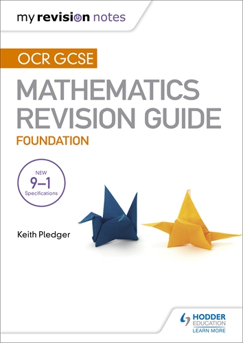 Ocr Gcse Maths Foundation Mastering Mathematics Revision Guide