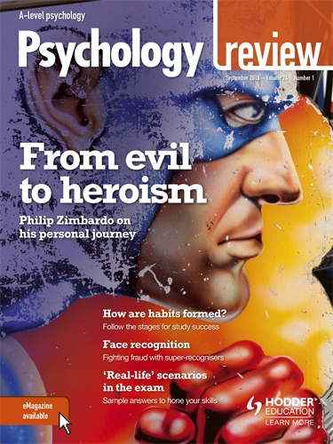 Psychology Review Magazine Volume 24 201819 Hodder Education